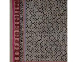 Nappe indienne carrée coton motifs imprimés àmain 150x150cm
