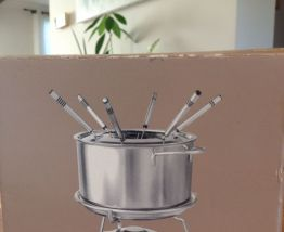 Service à fondue en acier inoxydable