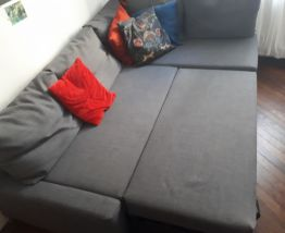 Canapé 3 places convertible d'angle