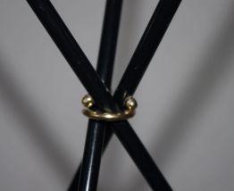 Guéridon tripode en métal années 60 Vintage