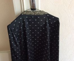 Blouse col a sequins