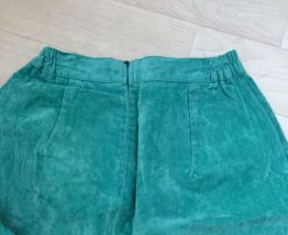 Jupe velours turquoise