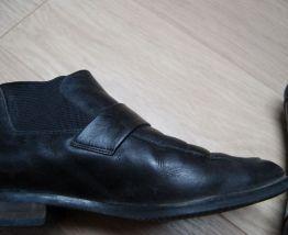 boots femme en cuir noir pointure 39