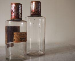 Bocaux à pharmacie en verre transparent