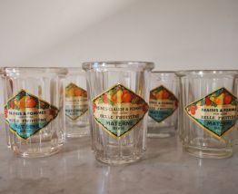 Lot de 5 pots à confiture en verre Materne Bouée
