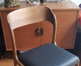 Paire de chaises Baumann traineau vintage