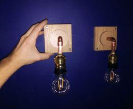Applique bois et cuivre style vintage industriel