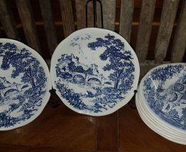 Lot assiettes ceramique Gien