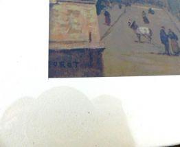 Lithographie Repro Tableau COROT Le Beffroi de Douai