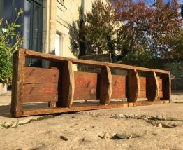 Présentoir ancien en bois (style clayette).