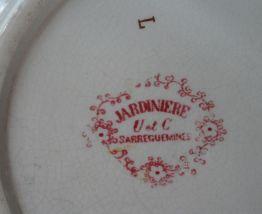 """Broc de toilette SARREGUEMINES """"Jardinière"""""""