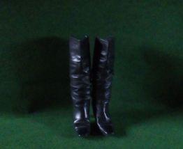 Bottes à talons en cuir noir taille 37