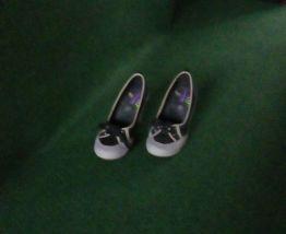 Escarpins bleu marine et gris taille 37