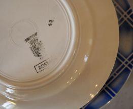 Lot de 6 assiettes céramique de Sarreguemines