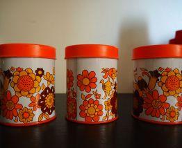 Lots de trois Pots vintage