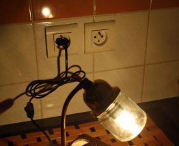 "LAMPE A POSER RECUP' ""VOLTMETRE"""