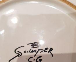 Assiette  creuse céramique de Quimper