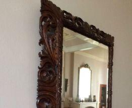 Miroir en bois sculpté vintage
