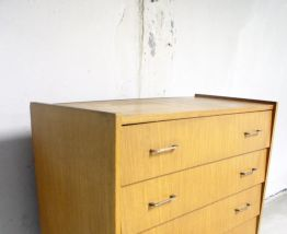 Commode scandinave vintage pieds compas 60's