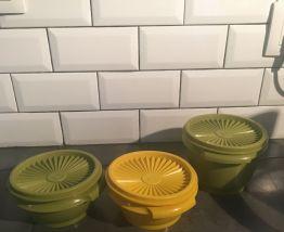 Lot de 3 boîtes Tupperware vintage