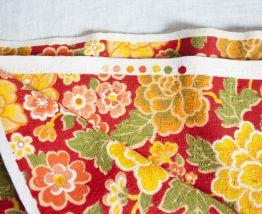 tissu d'ameublement vintage à fleurs
