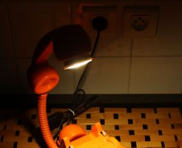 "LAMPE A POSER RECUP' VINTAGE ""TELEPHONE 3"""