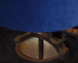 Lampe ancien moulin à café
