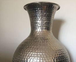 Vase métal design BOLTZE - Déco - couleur argent