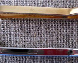 2 pinces à cravate en métal plaqué or et argent poinçonné