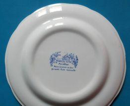 1 assiette plate Station BP en porcelaine épaisse