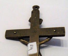 crucifix métal doré simili bronze religieux cabalistique