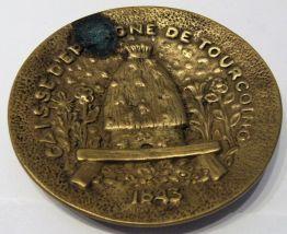 vide poche ,ramasse monnaie bronze caisse d'épargne