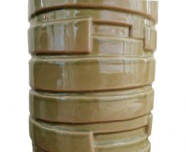 Vase en céramique kaki