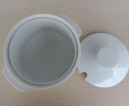 """Soupière blanche """"THOMAS"""" porcelaine 70's"""