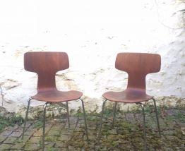 Paire de chaises Arne Jacobsen