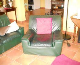 canaoé cuir SINNA et 2 fauteuils