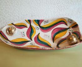 Plat décoratif Bécquet et Quarignon