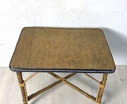 Petite table d'appoint en rotin vintage 60's