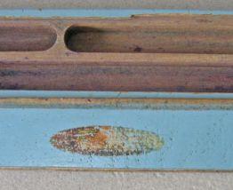 Ancien plumier en bois, vintage