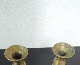 Paire de chandelier laiton