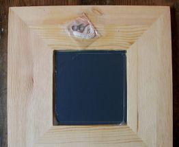 Miroir à suspendre en bois décoré main Travail artisanal