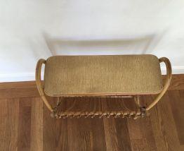 Porte revue, bout de canapé rotin vintage