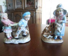 Deux Anciens Pyrogènes Porcelaine