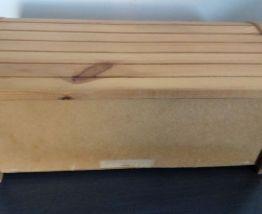 Huche coffre à pain en bois