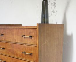 Chiffonier commode 6 tiroirs vintage pieds compas 1960's