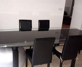table en verre cuisine 10 personnes