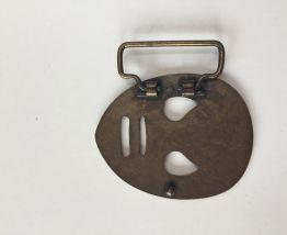 Boucle de ceinture vintage masque de catcheur