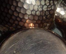 Théière et sucrier anciens en cuivre étamé
