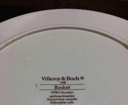 Lot de 12 assiettes Villeroy et Boch déco rétro