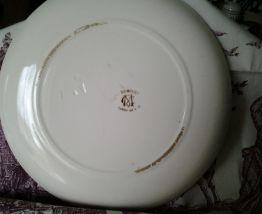 Deux assiettes décoratives Terre de fer